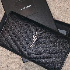 YSL monogram flap, large wallet